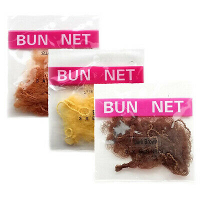 Bun Nets Triple Packs Girls Dance Hair Mesh Ballet Kids Donuts Ladies Childrens