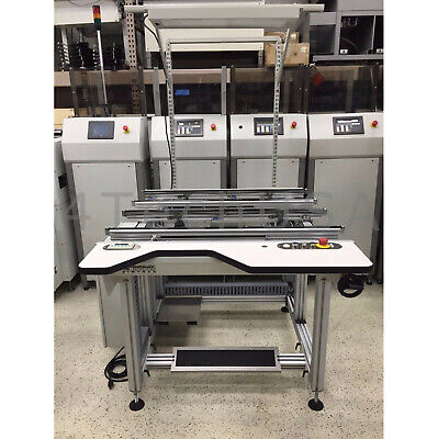 "Simplimatic Cimtrak PCB Dual Lane Inspection Workstation Conveyor 48"" Model 3034"