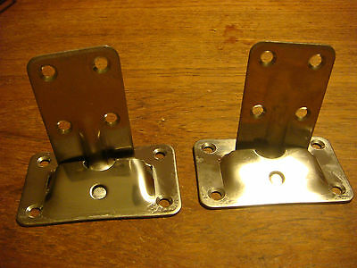 Removeable TABLE BRACKETS Stainless Steel NOS Cockpit Table NIB