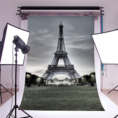 Eiffel Tower Background Photo Studio Props Vinyl 5x7FT Baby Photography backdrop