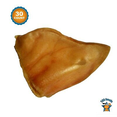 Pig Ears for dogs 30 Count - 100% Natural Dog Treats by 123 Treats