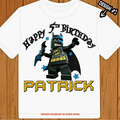 Custom tee Batman LEGO - Personalized - Birthday T-Shirt Party Favor