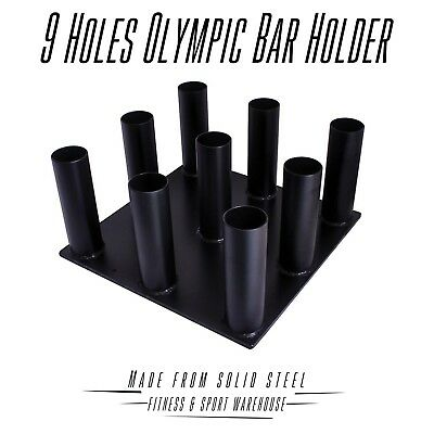 NEW 9 Holes Olympic Holder Storage Weight Rack Fitness Gym Exercise Equipment