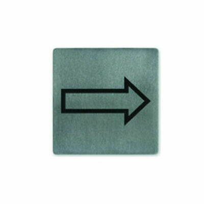 Sign, Arrow / Direction, Stainless Steel, 130 x 130mm