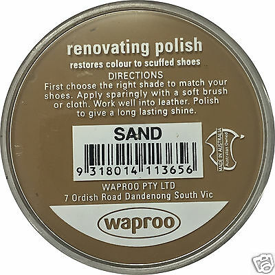 SAND Shoe Polish Cream Restore Colour to Leather SHOES / BOOTS /  WAPROO