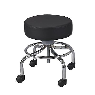 Drive Medical 13034 Deluxe Wheeled Round Stool Black