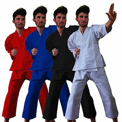 White Black Red Blue Poly cotton Adults/Kids Karate Suit martial art GI Uniform