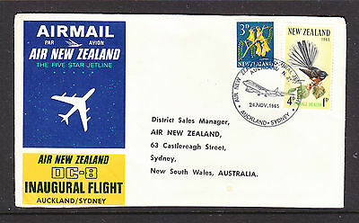 1965 Air New Zealand  Ffc Auckland To Sydney