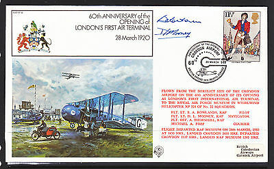 1980 British Forces  Flight Cover      Signed