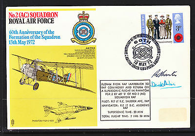 1972 British Forces  Flight Cover      Signed