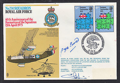 1973 British Forces  Flight Cover      Signed