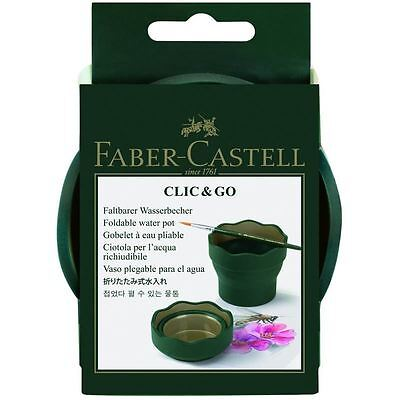 Faber Castell Click & Go Water Pot Dark Green Folding Watercup Painting Supply
