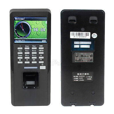 Time Attandance Fingerprint ID Card Reader Door Access Control TCP/IP T9 Input