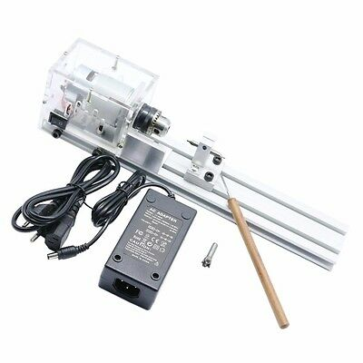 Lathe Beads Machine Woodworking DIY Lathe Standard Set with Power DC 24V Mini