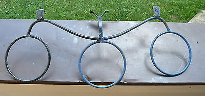 "MOVING SALE METAL Salvage 3 Ring Piece 27 1/4"" Wide Black & Gray (REPURPOSING)"