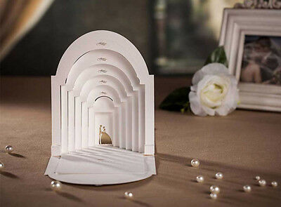 White 3D Laser Cut Personalized Wedding Invitations Cards Free Envelope Seal