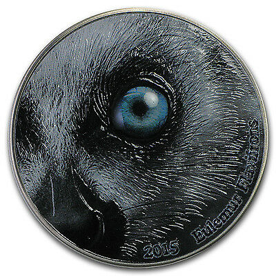 2015 Congo 2 oz Silver Nature's Eyes Black Lemur - SKU #96404