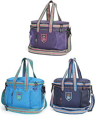 Shires Equestrian Horse Grooming Kit Bag (9122) - Navy, Blue, Purple