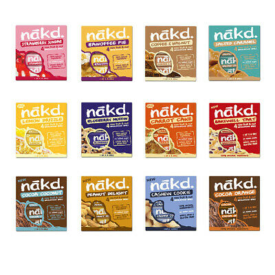 Nakd Fruit Nut Bar Mixed Case Selection 48 44 36 Bars Dairy Wheat Gluten Free