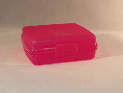 Tupperware NEW Sandwich Keeper Crayons Lunch Kids Pink