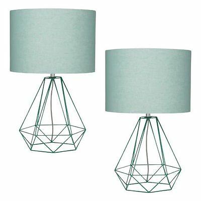 NEW Amalfi Empire Mint Table Lamp (Set of 2)