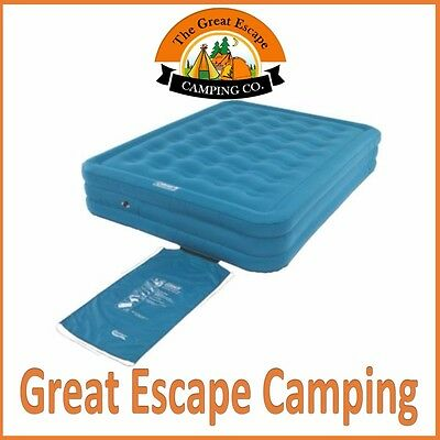 Coleman Durasleep Queen Double High Inflatable Camp Air Bed Mattress Airbed
