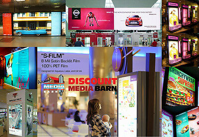"Satin Backlit Film 8mil -100% Polyester Film - 36""x100' - Epson Canon HP"