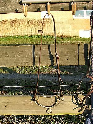 """Chifney Anti-rearing Stallion Bit with Leather Headstrap size 4 3/4"""""""