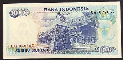 1992 1000  Rupiah UAF 079667  circulated condition