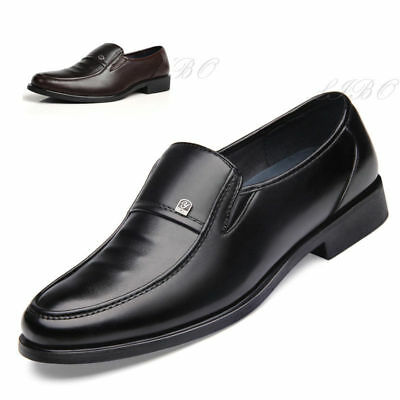Men Business Casual Shoe Dress Formal Oxford Classic Leather Flat Slip On Loafer