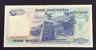 1992 1000  Rupiah UAF 079669 circulated condition