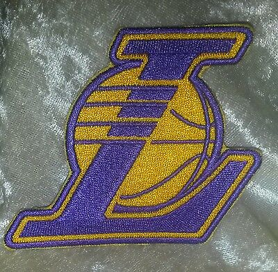"""LA Los Angeles Lakers Kobe Bryant 3.5"""" Iron On Embroidered Patch~USA~FREE Ship"""