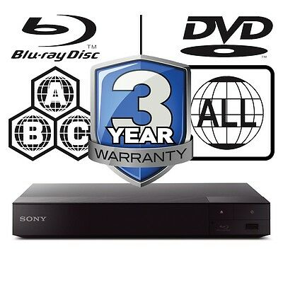 Sony BDP-S6700B.CEK BDPS6700 All Zone Code Free MultiRegion 4K 3D Blu-ray Player