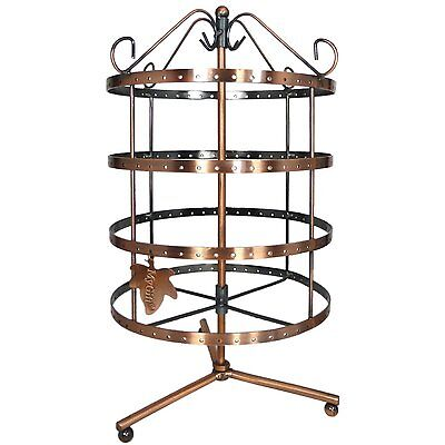 Rotating Holder Display Organizer Stand Rack Hang Jewelry Necklace Earring Tier