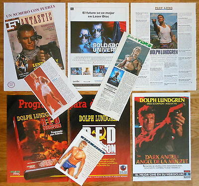 DOLPH LUNDGREN clippings 1980s photos masters of the universe rocky