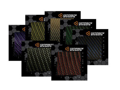 Reflections™ 2x2 Twill Carbon Fiber Fabric Samples