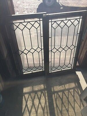 Sg 716 1 available 3 sold  Priced Separate Geometric Leaded Antique Windows