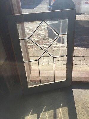 "Sga 720 Antique All Beveled Glass Window 20.5"" X 28 And Three-Quarter Inch"