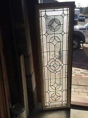 "Sg 723 Antique Transom Stainglass Window 19"" X 62"""