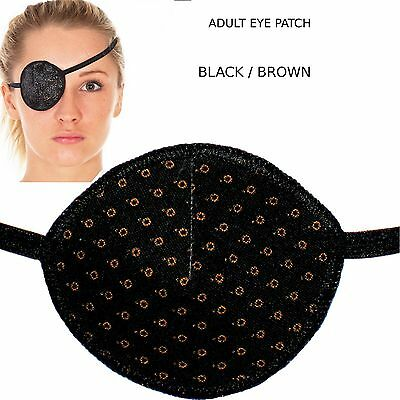 Medical Eye Patch, BLACK CIRCLES , Soft & Washable, Sold to the NHS