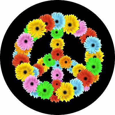 Flower Power Spare Tire Cover  Wheel Cover Jeep RV Camper etc (all sizes avail)