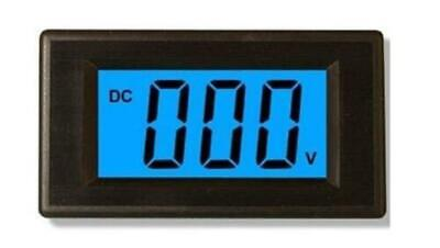 3pcs Blue DC0-500V LCD Digital Volt Panel Meter  Voltmeter