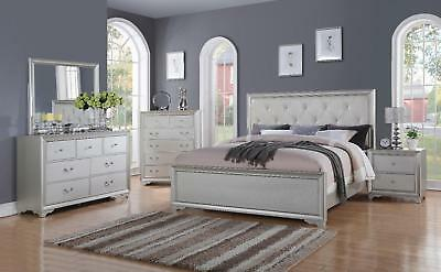 Chic Modern RB508 White Tufted 5pc King Size Contemporary Bedroom Set