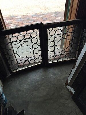 Sg 757 Two Available Price Separate Antique Leaded Glass Window Circles