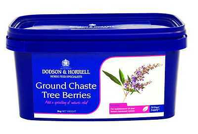 Dodson and Horrell Ground Chaste Tree Berries for Horses 2kg Tub