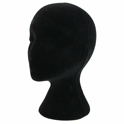Styrofoam Foam Mannequin Manikin Head Model Wigs Glasses Display Stand Black AD