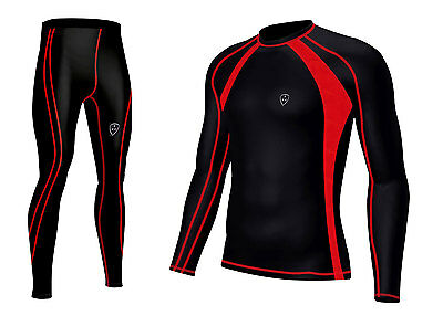 Mens Compression  Base layer Top & legging running  Skin Fit Breathable Shirt