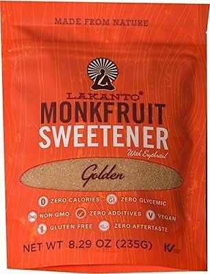 Lakanto Golden Monk Fruit Sweetener 235 g, Sugar Free, Low Carb, Zero Calories