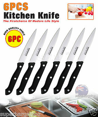 6 PC 22cm Premium Stainless Steel Kitchen Dinner Steak Knfie Cutting Tool