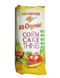 Pure Harvest Organic Corn Cakes Thins 150g